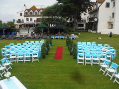 Set up for an outside blessing, decorated with sashes, adding that touch of colour. Wedding Blessing, Guernsey, Wow Factor, Woodland Party, Holiday Cocktails, Special Day, Catering, Entertainment, Organization