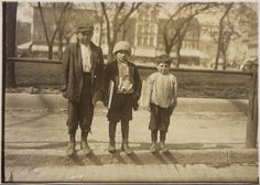 """""""I allus axes em fer nickels"""" """" Photograph of Louis Gabriel years old) and brother Eddie years old) and Johnnie years old). The photographer found Louis and Eddie selling after midnight on. Old Family Photos, Old Photos, Couple Photos, Important People In History, Lewis Hine, 7 Year Olds, Beach Look, Hinata, 30 Years"""