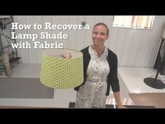 How to Recover a Lamp Shade with Fabric. How to Recover a Lamp Shade with Fabric Video demonstrates step-by-step how to give an old lampshade new life with a fabric cover. Recovering a lampshade is an easy DIY trick that will produce stunning results. Lampshade Redo, Lamp Redo, Lampshades, Glam Lamps, Custom Lamp Shades, Workshop, Lamp Light, Diy Light, Light Table