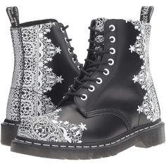 Dr. Martens Pascal Lace 8-Eye Boot (Black Smooth) Women's Lace-up... (6,265 PHP) ❤ liked on Polyvore featuring shoes, boots, black, black lace up boots, low heel boots, black lace shoes, lace up shoes and lace boots