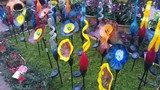 Beautiful glass blooms to enhance Texas flowerbed.  Visit Flower Mound garden center, Calloways Nursery, for these and other beautiful plants and garden goods.