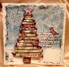 IMG_0179 christmas cards, art journal, card idea, mixed media, christma idea, class idea, mix media, christmas trees, scrapbook