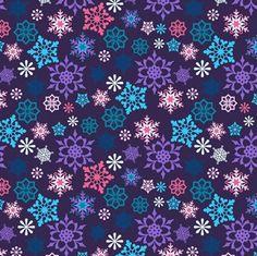 X-mas Holiday Print - Dancing Snowflakes
