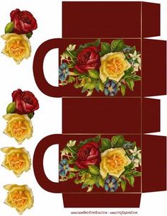 victorian gift boxes | Victorian Roses Gift Bag