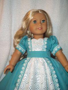 "Reserved for Alicia Regency   style dress made for 18"" American Girl dolls   historical Caroline Marie Grace Samatha"