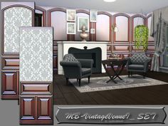 The Sims Resource: Vintage VenueI set by matomibotaki • Sims 4 Downloads