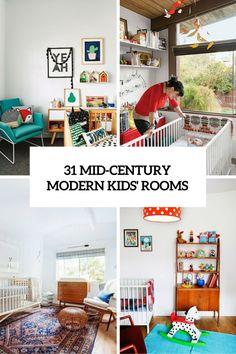 31 Cute Mid-Century Modern Kids' Rooms Décor Ideas