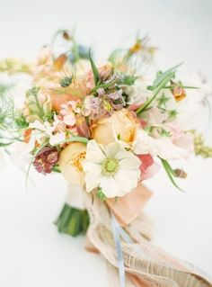 Heavenly spring bouquet: http://www.stylemepretty.com/2015/04/05/pastel-easter-wedding-inspiration/ | Photography: Jodi Miller - http://jodimillerphotography.com/