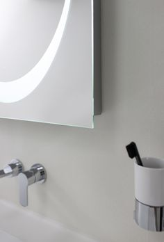 Revive LED Bluetooth Mirror from Crosswater. http://www.bauhaus-bathrooms.co.uk/category/revive-illuminated-mirors/