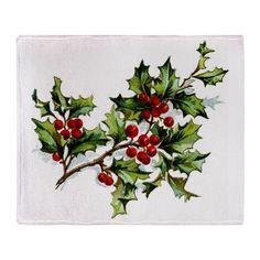 #Holly berry 001 #Throw Blanket by #JAMFoto #Cafepress.com