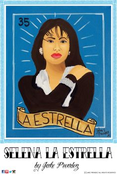 """Selena La Estrella"" 20"" x 16"" acrylic on canvas by Jake Prendez"
