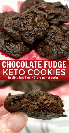 These decadent keto chocolate cookies taste so rich and amazing that you'd never guess they're actually GOOD for you! These decadent keto chocolate cookies taste so rich and amazing that you'd never guess they're actually GOOD for you! Ketogenic Diet, Ketogenic Recipes, Keto Recipes, Dessert Recipes, Dukan Diet, Flour Recipes, Steak Recipes, Cheese Recipes, Easy Healthy Recipes