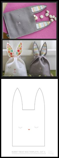 New Ideas Sewing Crafts Easter Treat Bags Easter Projects, Easter Crafts, Felt Crafts, Fabric Crafts, Easter Art, Easter Ideas, Spring Crafts, Holiday Crafts, Bunny Bags