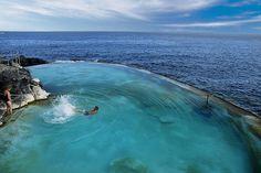 An idyllic outdoor pool on the coastal walk between Golf del Sur and San Blas in Tenerife
