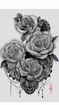 Roses henna style tattoo