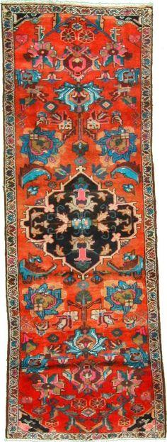 3 5 x 9 4 Red Hamedan Persian Rugs