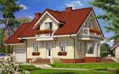 Model de casa cu balcoane din lemn