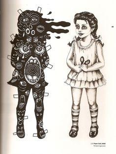 Paper doll lithograph~Artwork © Julie  Nord, 2009
