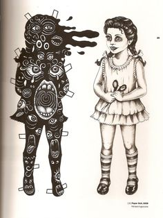 Paper doll lithograph~Artwork © Julie  Nord, 2009
