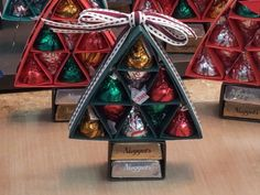 Christmas tree candy kiss holder---great party favors or you could put a tag on it and use it as a place card for your table