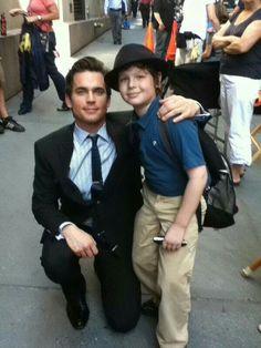 Cute :) Matt with a young fan x
