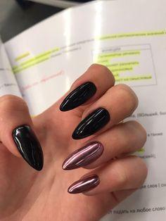 Black and purple long nails - ChicLadies. Fabulous Nails, Perfect Nails, Aycrlic Nails, Pink Nails, Minimalist Nails, Best Acrylic Nails, Dream Nails, Stylish Nails, Nails Inspiration