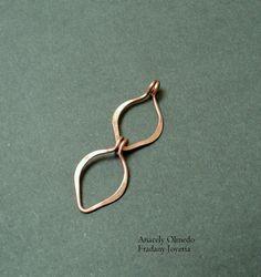 Free tutorial - leave link chain: Fradany : Tutorial: Eslabones con forma de hoja - catena con elementi a forma di foglia