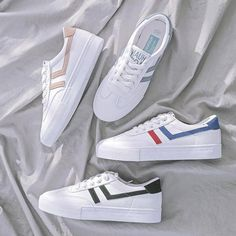 It's time to get ready for Spring! Classic stripe sneakers are already added to my wishes. Adidas Sneakers, Stripes, Spring, Classic, Shoes, Women, Fashion, Derby, Moda