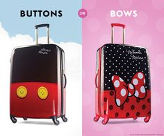 Are you Team Mickey or Team Minnie? No matter which Disney Collection luggage you pick, you're guaranteed to arrive at Walt Disney World® Resort in style. Click to see them all.