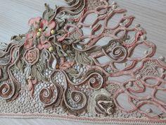 Мастер-класс от Аси Вертен. Жилет «Цветы на песке». Irish crochet. Freeform…