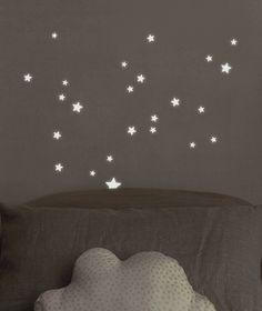 Stickers phosphorescent étoiles enfant