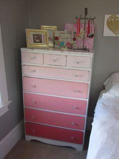 Lovely ombré dresser from the pinkerie blog