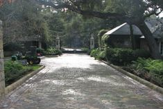 Our French Inspired Home: Brick and Cobblestone Paver Driveways vs. Crushed Stone Driveways: Which is your Favorite?