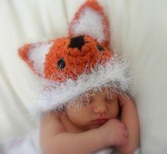 Baby Photo Prop  FOX  HAT ONLY Newborn Boy  Girl  by pixieharmony