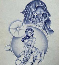 Dr Tattoo, Chicano, Tatting, Tattoo Designs, Skulls, Bobbin Lace, Needle Tatting, Tattooed Guys, Tattoo Patterns