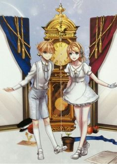 Suzunosuke artworks - Kagamine Rin and Len from VOCALOID