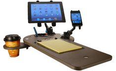 Mobile Office Car Desk Workstations -mobile Car Desk In Auto Exec Mobile Fice Car Gadgets, Travel Gadgets, Van Shelving, Kombi Motorhome, Car Office, Office Desks, Mobile Office, Mobile Desk, Work Station Desk