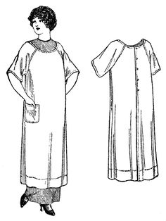 Past Patterns 5438, apron circa 1911-1914
