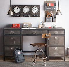 Vintage Locker Large Storage Desk