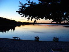 #chalet #coucher de soleil #lac #nature #plage
