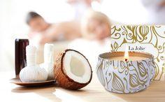 Vanille Kokosnuss Duftkerze in Dose 100%Sojawachs Weihnachten Aromatherapie Kerze 45Std 185g: Küche & Haushalt