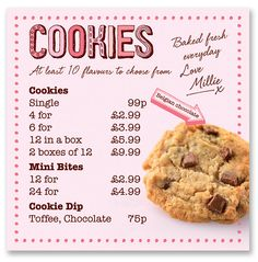 Millies Cookies! Toffee is the best, when it is still warm. :)