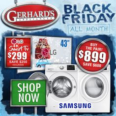 BEST deals of the year!! 💰💰 Shop Gerhard's Black Friday Sales NOW!