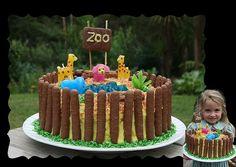 super easy zoo cake