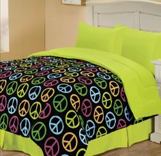 Chic Home Campus Peace Symbol Reversible Comforter, Full, Yellow by Chic Home. $53.83. Care Instructions Machine Washable. A smart pick for college kids, This chis reversible comforter features modern peace symbols in chic hues of bold colors for a fun and playful feel. Comforter are well stuffed. Comforter is available in several styles and colors. Comforter is reversible. A smart pick for college kids. This chis reversible comforter features a modern peace sy...