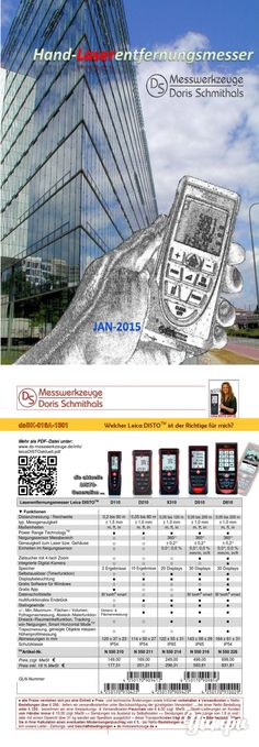 Hand-Laserentfernungsmesser - Magazine with 20 pages: Laserentfernungsmesser für die verschiedensten Messaufgaben - einfache Geräte, Geräte mit Bluetooth oder mit digitalem Zielsucher - oder beides zusammen, bis hin zum Leica DISTO mit integrierter Dgital-Kamera ...