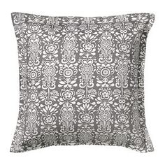 IKEA - ÅKERKULLA, Cushion cover, You can easily vary the look, because the two sides have different designs.The zipper makes the cover easy to remove.