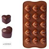 Baking Mould Heart Shape Silicone Chocolate Mould, Random Color  Material: Silicone Pack: Pack of 1 Color: Multicolor (Random Color) Sizes: Mould Size: 9 in x 4.1 in x 0.4 in Chocolate Cavity Size: 6.3 in x 3.1 in x 0.4 in Country of Origin: India Sizes Available: Free Size   Catalog Rating: ★4.1 (3003)  Catalog Name: Wonderful Candy & Chocolate Moulds CatalogID_934985 C137-SC1600 Code: 871-6141514-723