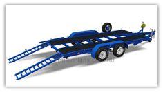3500kg Flatbed Car Carrier - TRAILER PLANS. Build your own Flatbed Trailer. Rear fold up ramps for quick deployment www.trailerplans.com.au
