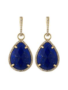 Lapis Lazuli & Diamond Earrings